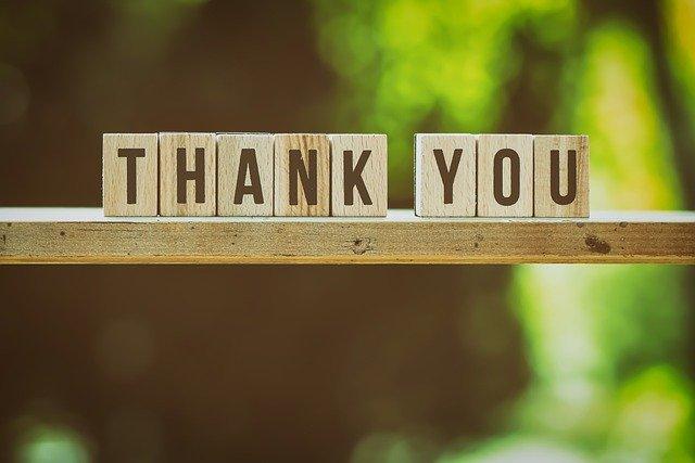 感謝の気持ちを忘れないで